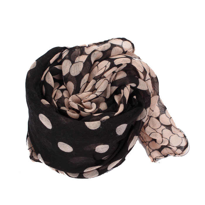 2019 nova senhora womens longo polka dot cachecol senhora envolve xale roubou macio quente elegante belos cachecóis