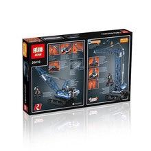 2017 New LEPIN 20010 1401Pcs Technic Series Crawler Crane Model Building Kits Blocks Bricks Compatible Children Toys Gift 42042