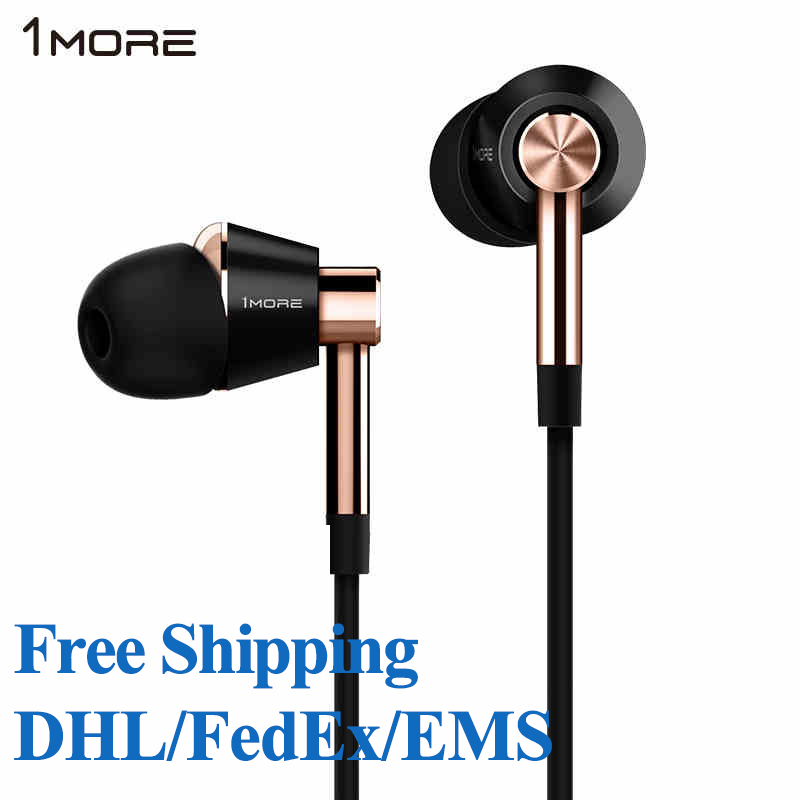 1MORE E1001 Triple Driver In-Ear Earphones IEM In-Line Microphone and Remote for IOS iPhone Xiaomi Free shipping DHL/EMS/FedEx 1more e1001 triple driver in ear earphone with in line microphone and remote for ios iphone xiaomi samsung