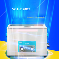 VGT 2120QT 20L Ultrasonic Cleaner Heating Timer Surgical Steel Stainless Steel Tank Jewelery Parts Cleaning Machine 110V/ 220V