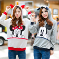 2016 Autumn Winter Fashion Women Long Sleeve Loose Tops Casual Printed Minnie Mouse Cartoon Hoodies Sweatshirts Pullover Women