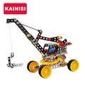 Envío libre grande 26 cm metal modelo de vehículo de construcción de maquetas rompecabezas grúa enlighten educación assemblage diy juguetes regalos para niño gril