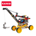 Free shipping big 26CM Vehicle Metal Model Building Kits Puzzle Crane Enlighten Education Assemblage DIY Toys gifts for boy gril