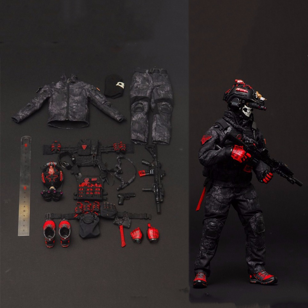 Black Body w// Hand Set W05-45 1//6th Scale Action Figure