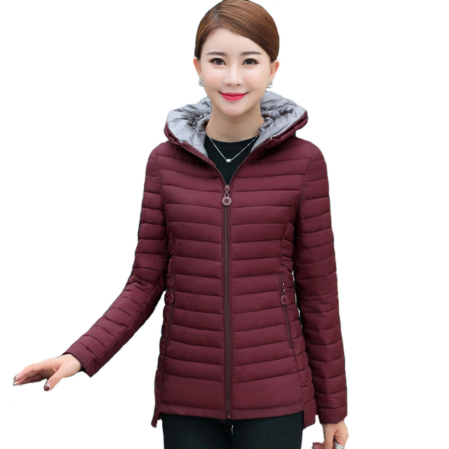 074082687f7 2018 short Women Coat Autumn Winter Womens basic Jacket Female Cotton  Casual padded Plus size 4XL