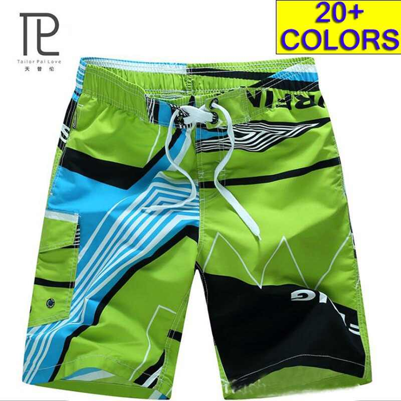 Mens Summer Beach Shorts Elastic Waist Quick Dry Stretchable for Home or Outdoor Running Surfing Swimming Trunks for Watersports
