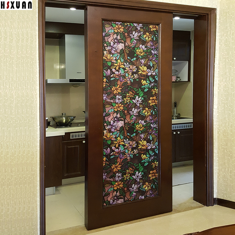 Decal Decorative Window Film Sunscreen 80X100cm Pvc Self Adhesive 3d Flower Tint  Sliding Door Window