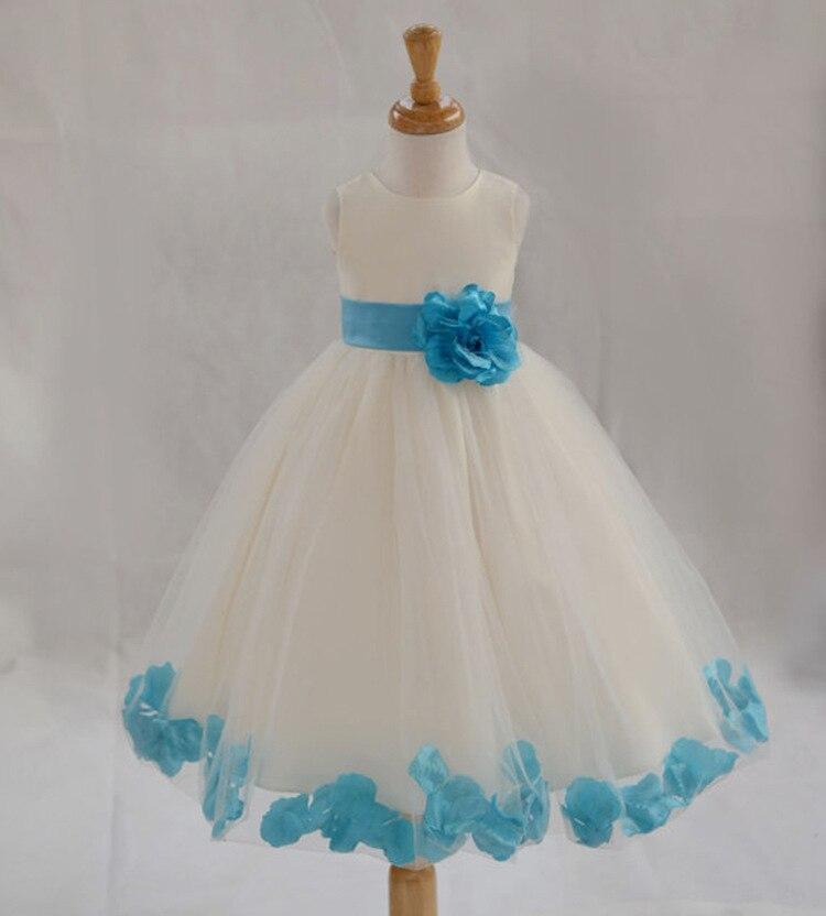 628d0607a26 European and American Princess petals wedding flower girl dress girls prom  dresses pink princess dress-in Dresses from Mother   Kids on Aliexpress.com  ...