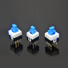 1x  7X7mm 7*7mm 6Pin Push Tactile Power Micro Switch Self lock On/Off button Latching switch Wholesale Electronic