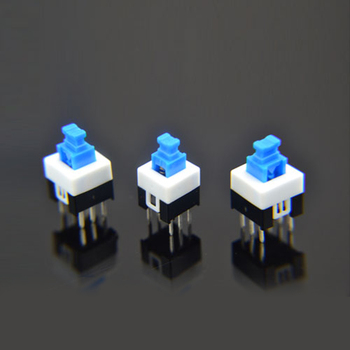 1x 7X7mm 7*7mm 6Pin Push Tactile Power Micro Switch Self lock On/Off button Latching switch Wholesale Electronic image