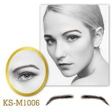цена на Neitsi Man's One Pair Invisible Lace Fake Eyebrows 100% Human Hair Fake Eyebrows M1006