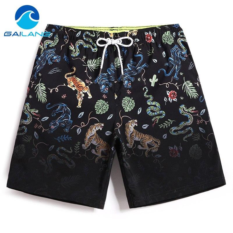 Gailang Brand Men's Beach Shorts Board Boxer Trunks Shorts Short Bottom Quick Drying Bermuda Swimwear For Men Swimsuits Summer