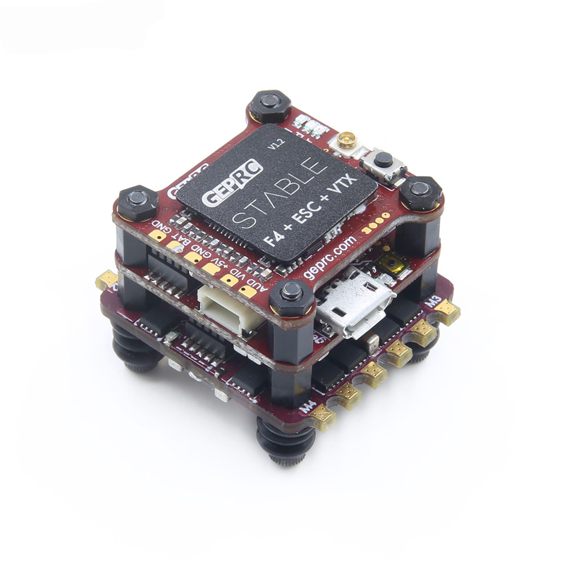 1PC Stable F4 Mini Tower F4 Flight Controller & 4 IN 1 BLHelis 20A ESC & 48CH 2-6S VTX for FPV Quadcopter RC Drone Model bs430 esc 30a 3 6s 4 in 1 blheli s firmware dshot 4x30a omnibus f3 f4 fly tower speed controller for fpv racer camera rc drone