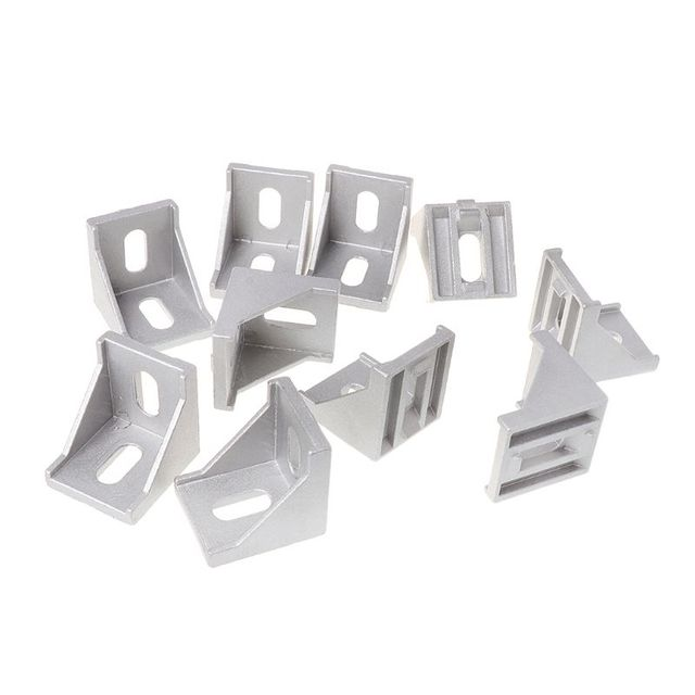 US $5 69 17% OFF|10pcs 4040 Fasten Fitting Angle 40x40 L Connector Aluminum  Corner Bracket Joint Brace-in Corner Brackets from Home Improvement on