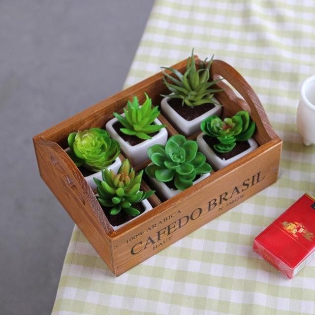 Garden Planter Flower Pot for Succulent Plants Nursery Window Box Wooden Flower Boxes Trough Pot Plants Garden Supplies