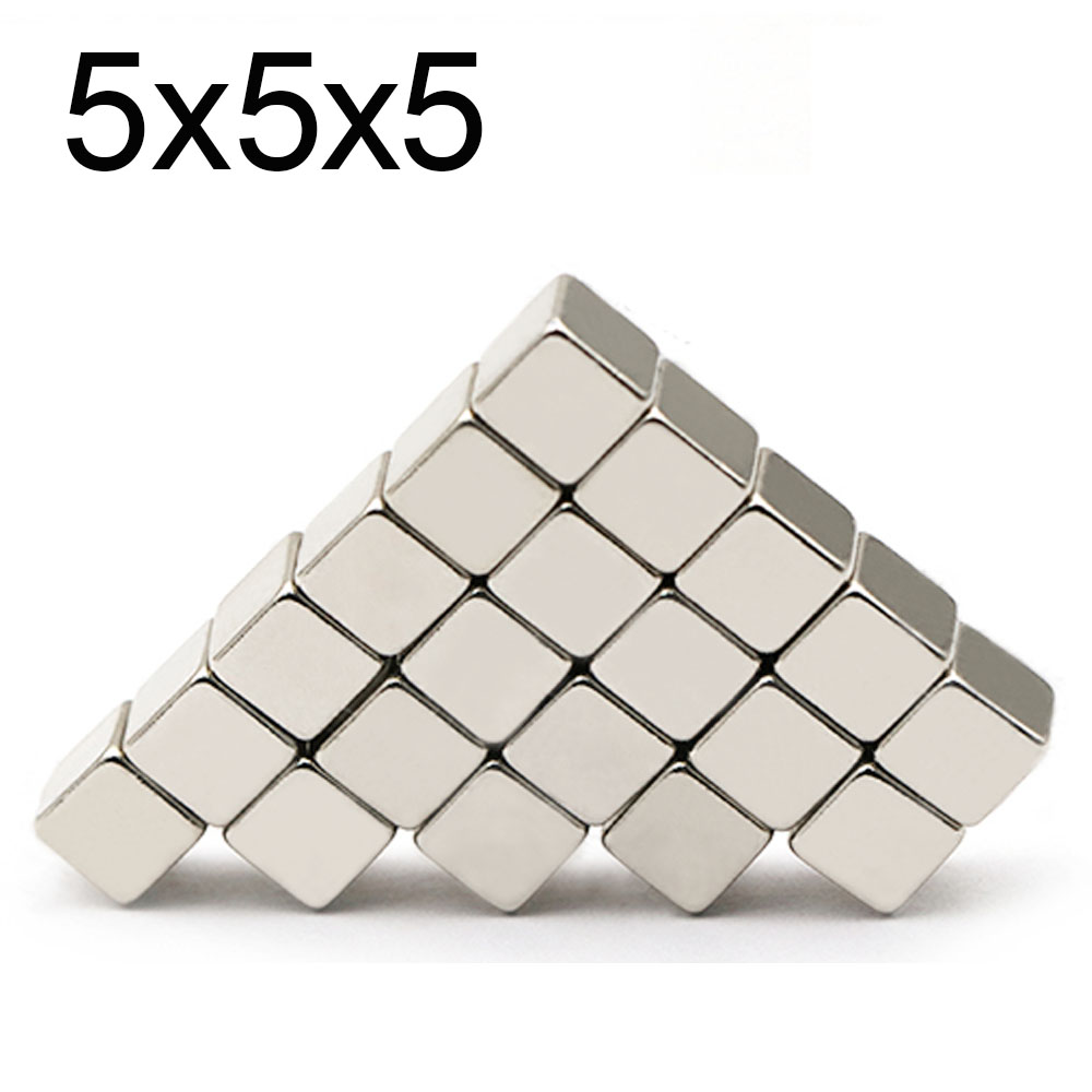 20/50/125/216Pcs <font><b>Neodymium</b></font> <font><b>Magnet</b></font> 5mm x 5mm x 5mm N35 NdFeB Block Super Powerful Strong Permanent Magnetic imanes <font><b>5x5x5</b></font> image