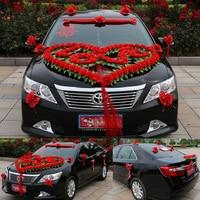 Wedding Heart LOVE Simulation Float Decoration Wedding Car Wreath Beautiful Front Flower Rustic Wedding Garland