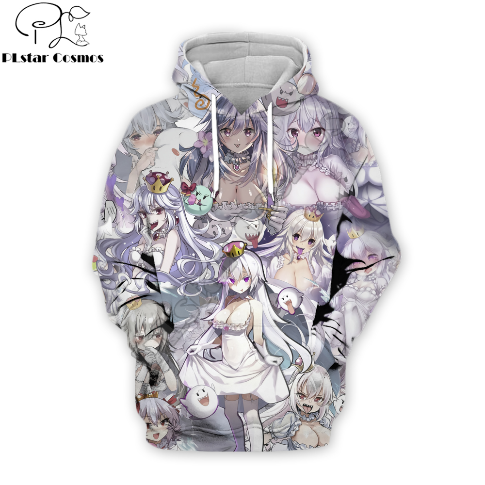 2019 New Fashion Men Hoodies Princess Boosette Anime Manga Collage 3D Printed Streetwear Hoodie/Sweatshirt/Hooded Jacket