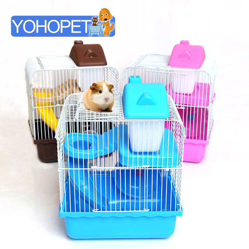 small pet Cages For Hamsters bed/House/Castle Deluxe Double hamster cage Animal Guinea Pigs Totoro Hamster In A House Toys