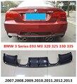 Задний спойлер из углеродного волокна для BMW 3 серии E93 M3 320 325 330 335 2007-2013 Высококачественный бампер диффузор модификация автомобиля