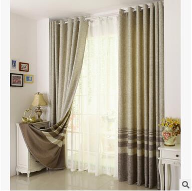 Baumwolle Leinen gestreiften Modernen Luxus Fenster Vorhänge für - Haustextilien - Foto 5