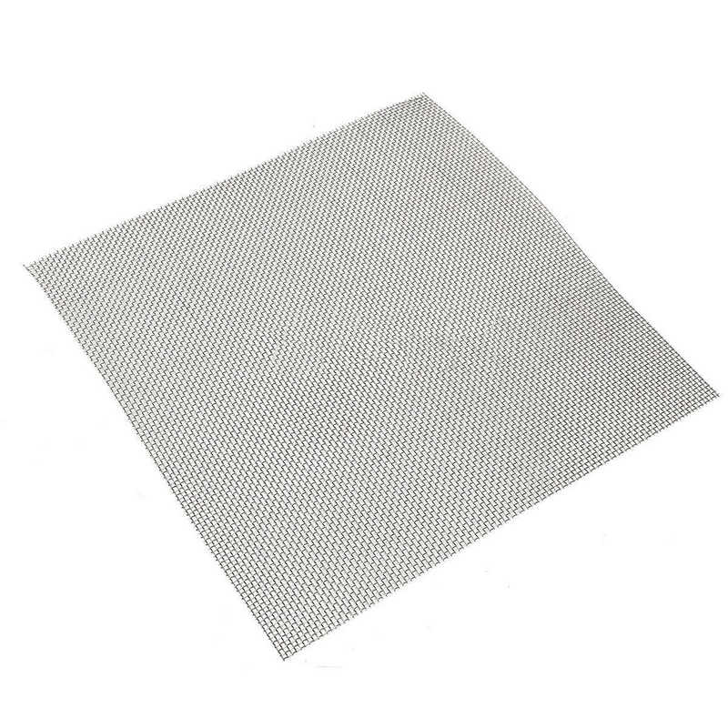 1pc Stainless Steel 10 Mesh Filtration Water Resistant Woven Wire Cloth Screen Filter 30*30cm For Filtering Oil Water Mayitr 1pc stainless steel woven wire mesh 60 industrial filtration cloth screen 30x30cm with weather resistance