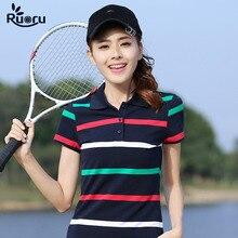 2017 M- 6XL Cotton vintage women polo summer spring striped brand womans polo shirt slimming tennis golf ladies femme polo ralph