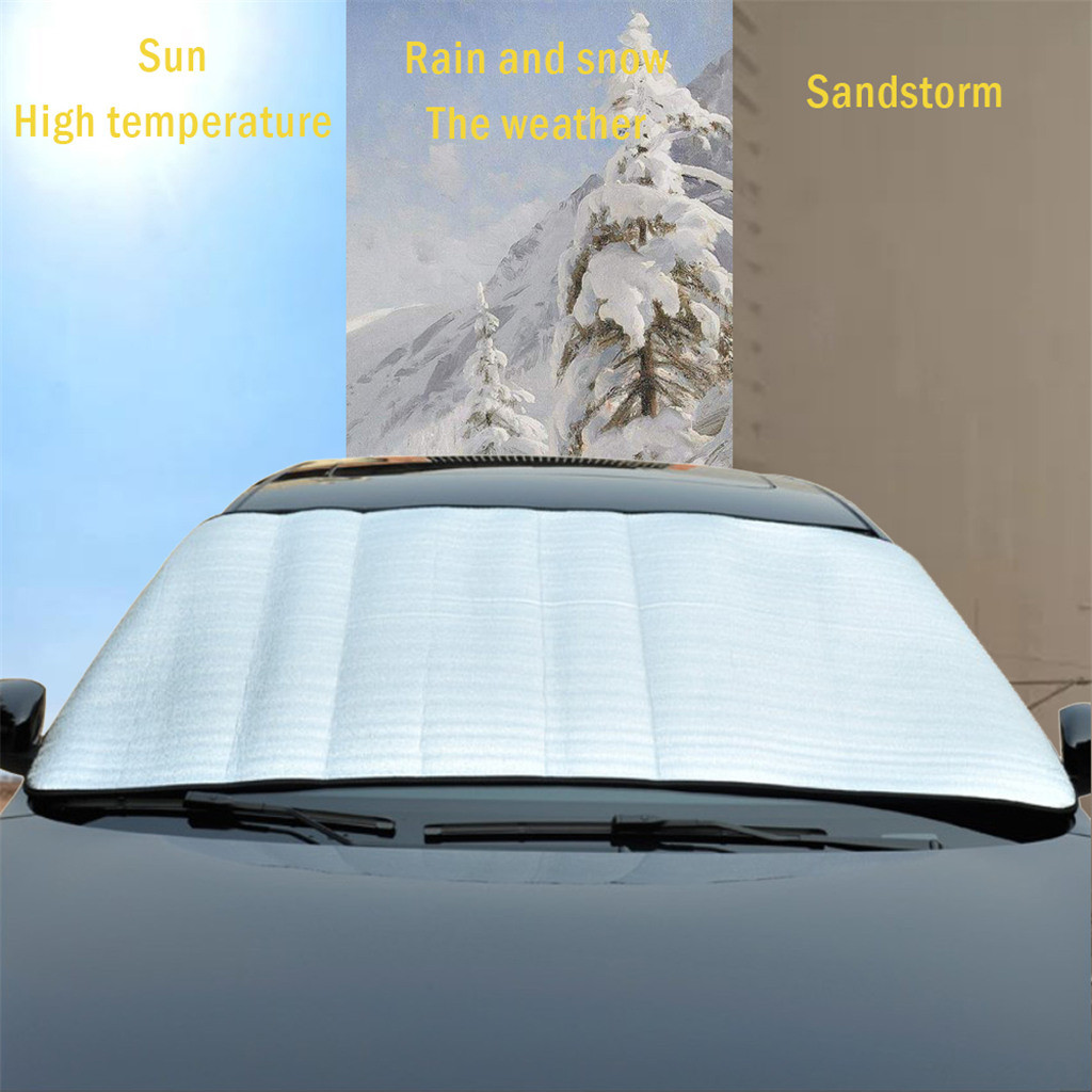 Car Sun Shade Auto Curtain  Windshield Snow Cover Ice Removal Wiper Visor Protector All Weather Winter Summer Sunshade Car-in Windshield Sunshades from Automobiles & Motorcycles