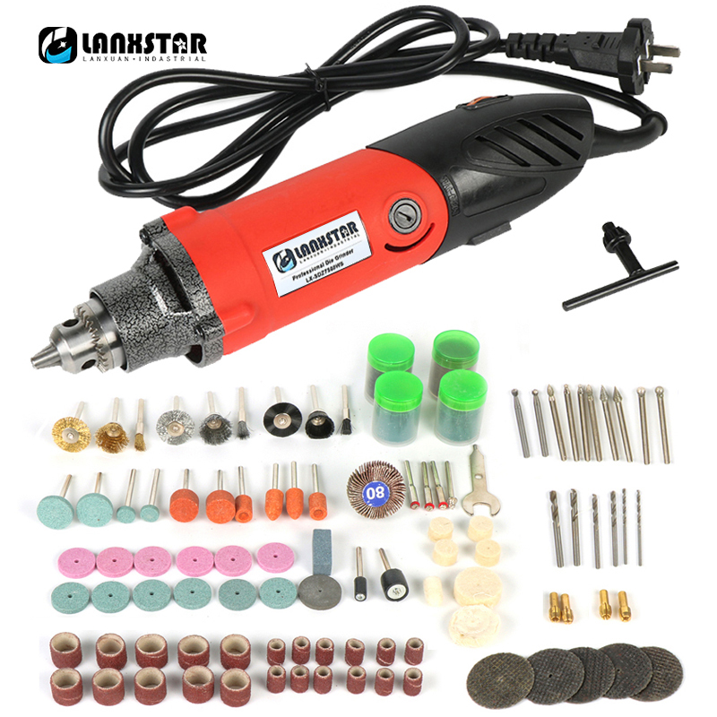 High Power 7500WS Professional Electric Mini Die Grinder Tool 0.6~6.5mm Chuck 6 Variable Speed Rotary Tool Multifunction Drill