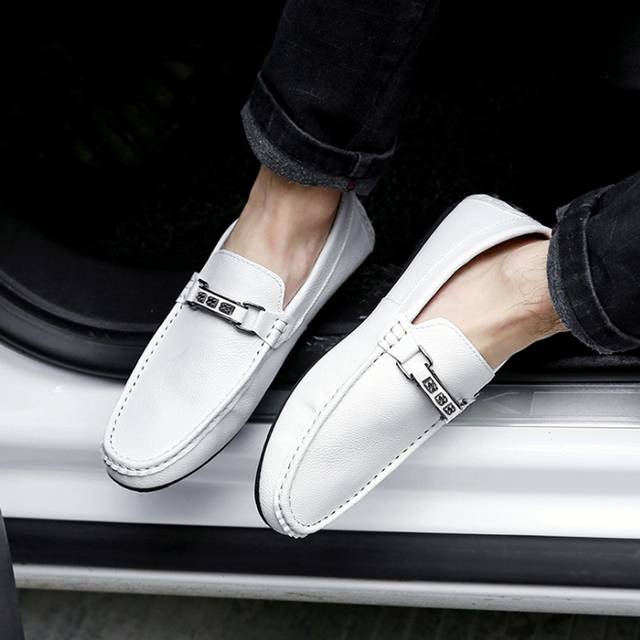 2017 spring British Style Pu Leather men's business Casual shoes Comfortable Slip On male driving shoes  Flats Hot Loafers O2277