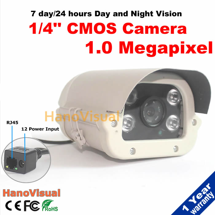 ФОТО HD 1.0MP IP Camera 720P Outdoor With IRCUT Waterproof Night Vision ONVIF P2P Remote View Surveillance Camera With 4 Array Leds