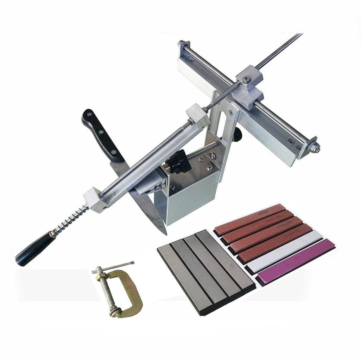 Кухонная точилка для ножей, Профессиональный кухонный нож из алюминиевой стали, точильный инструмент, фиксируемый угол, Алмазный точильный...