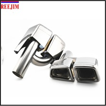 Car Exhaust muffler tip tail pipe for 10-13 Mercedes  W212 E Class  change into E63 AMG Style  car styling
