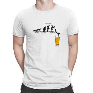 Image 4 - Tydzień rzemiosło piwne projekt śmieszny T Shirt Euro rozmiar formalny kreatywny T Shirt dla mężczyzn jednolity kolor Hip Hop komiczny Tee Shirt Funky