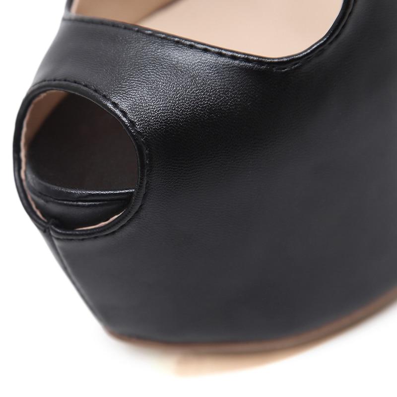 Negro Cruz Zapatos Señoras Cm Tacones Bombas Tacón Strappy Talón Partido 16 Alto Plataforma Sexy Mujeres Moda 4q6zIxtqw