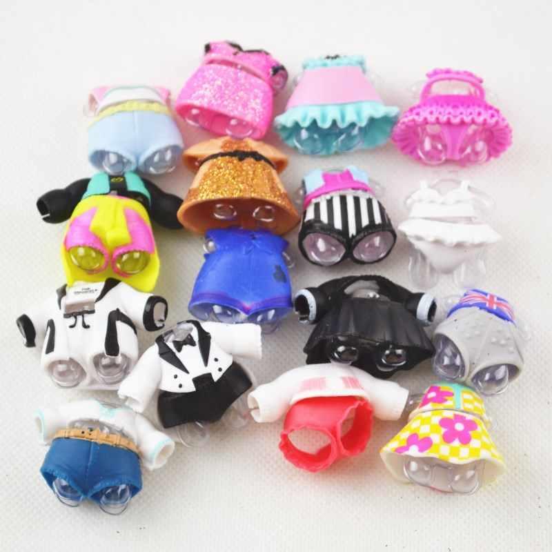 Garrafas de estilo aleatório LOL original UM conjunto ternos da roupa da boneca roupas sapatos jóias roupa da boneca de presente de aniversário da menina presente