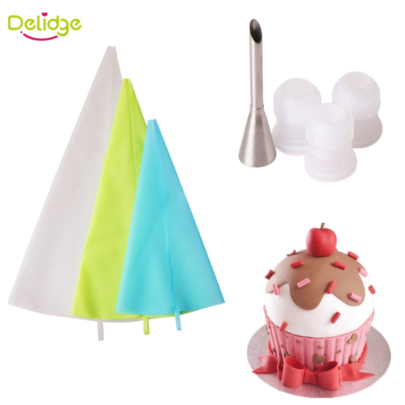 Delidge 1 set Cake Decorating Set 3 Bags+3 Converters+1 ...
