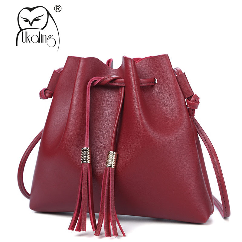 9c950a51c7ab Detail Feedback Questions about UKQLING Small Women Messenger Bags Bucket Crossbody  Bags Sling Women Bag PU Leather Cheap Handbag for Phone Female Purse on ...