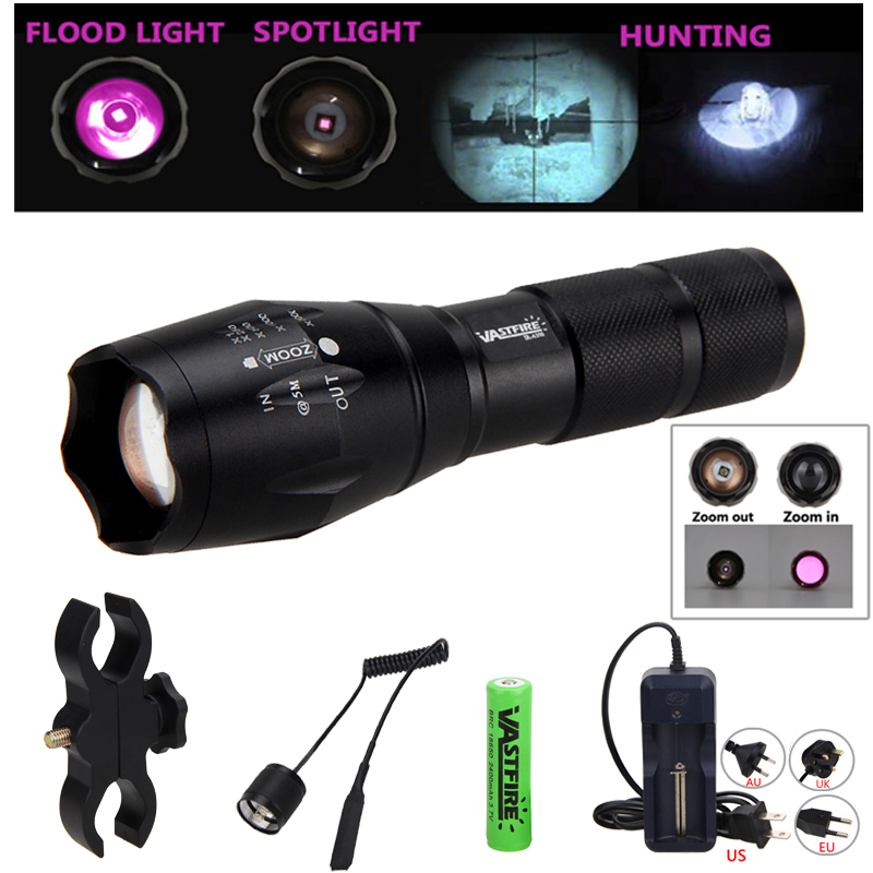 Intelligent Ir 850nm 5w Night Vision Infrared Zoomable Led Flashlight Torchcamping On/off Mode With Gun Clip+dual Mode Remote Pressure Switc Led Flashlights Led Lighting