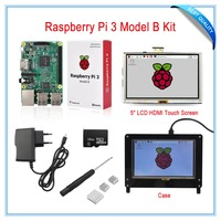 Raspberry Pi 3 Model B Board Kit 5 LCD HDMI USB Touch Screen 5V 2