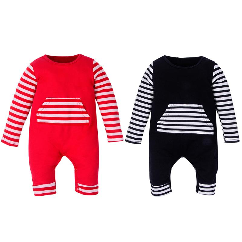 Newborn Baby Boys Striped Long Sleeve Romper Clothes Romper Infant Girl Boy Jumpers Kids Baby Outfits Clothes
