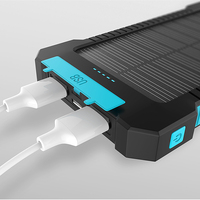 New Portable 20000mAh Solar Fast Charger Solar Power Bank Outdoors Emergency Battery For Smart Mobile Phone