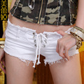 2016 Women New Summer Sexy Jeans Denim Shorts Hot Thin Hollowed-out Slimming Short Shorts Pole Dancing Costumes