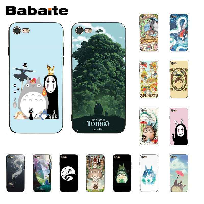 Babaite Cute Totoro Spirited Away Ghibli Anime Phone Case for iphone 11 Pro 11Pro Max 6S 6plus 7 7plus 8 8Plus X Xs MAX 5 5S XR