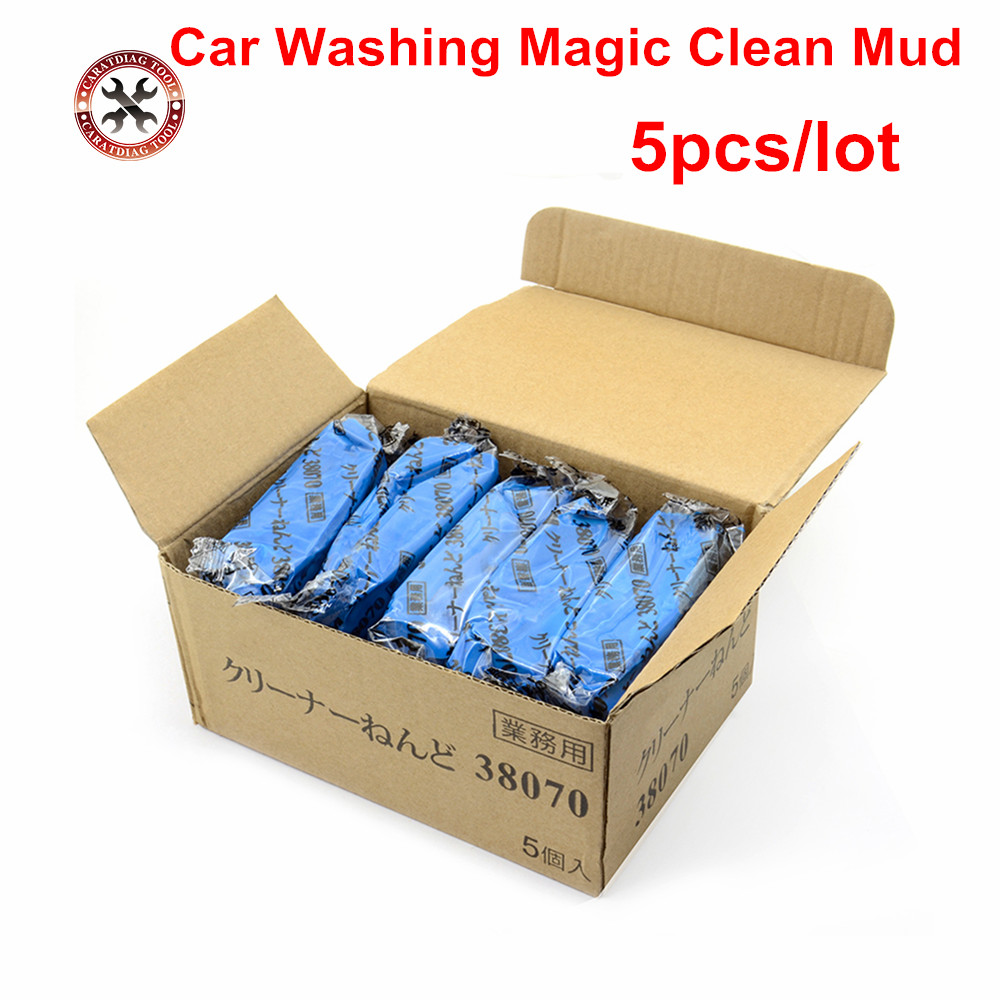 5pcs/box Car Washing Magic Clean Mud 3-m 180g Blue Clay Bar Magic Remove Sludge Car Detailing Brush Wash Cleaner Car Care Tools Sufficient Supply Home