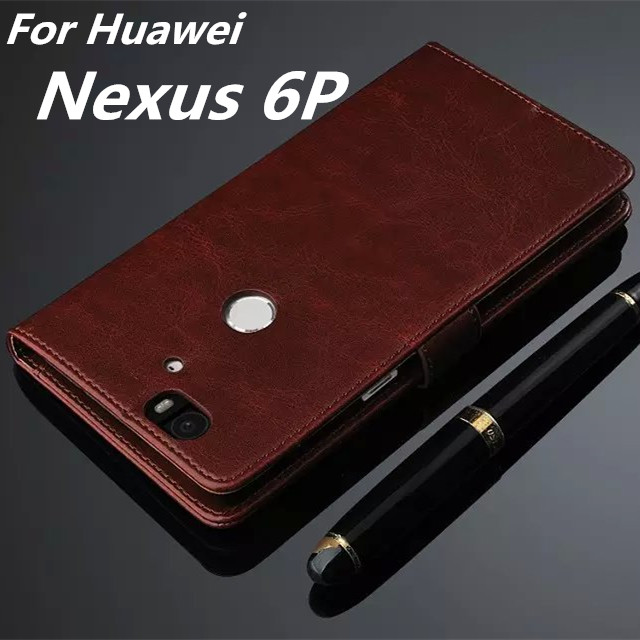 Fundas Nexus 6P High Quality Flip Cover Case Magnetic Leather Holster For Huawei Google Nexus 6P Phone Shell Capa