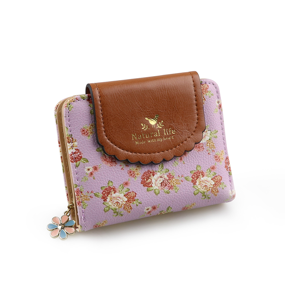 Pink Roses Lilacs Flowers Womens New Design Purse Clutch Bag Card Holder New Fashion Wristlets Wallets