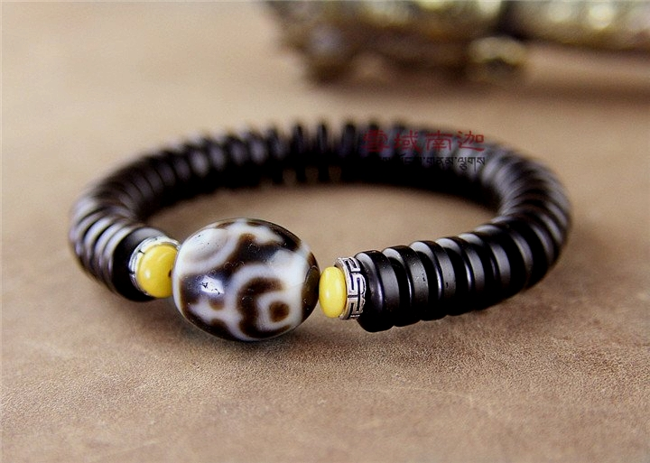 Tibet Jewelry Qualitied Dzi Ji Bead Daluo Vase Pattern Bracelet for Men & Women Natural Coconut Shells High Quality BraceletTibet Jewelry Qualitied Dzi Ji Bead Daluo Vase Pattern Bracelet for Men & Women Natural Coconut Shells High Quality Bracelet