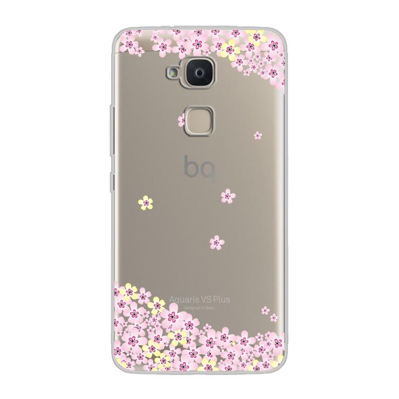 ciciber For BQ Aquaris U2 C U X5 V VS X2 X Plus Lite Pro E5 s M5 M5.5 E4.5 M4.5 Soft Silicone TPU Phone Cases Flower Deciduous