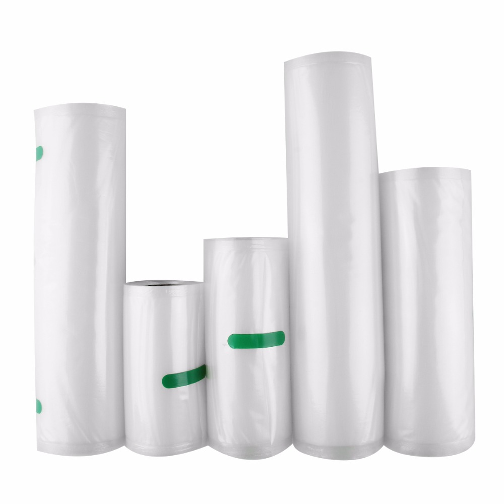 Nosii 12x500 15x500 20x500cm Sealer Vacuum Food Bag Roll Storage Bag Fresh-Keeping Safety Saver Packing Kitchen Fruit Veg Tool